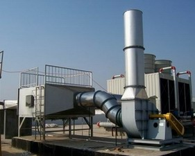 VOC adsorption tower with FRP material